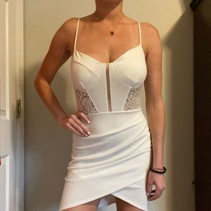White lacy (and sexy!) dress